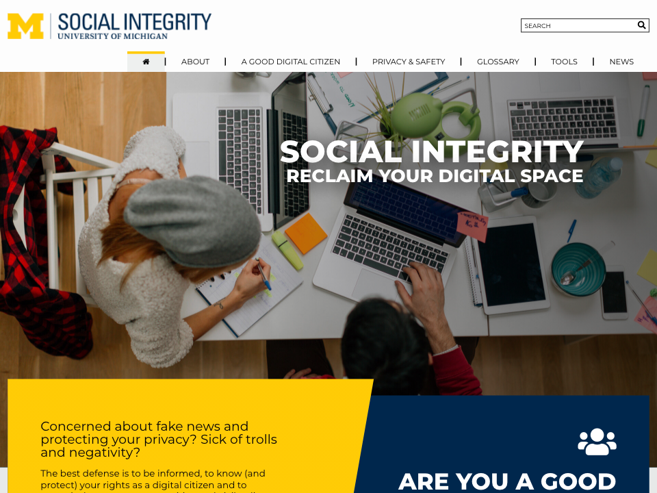 Social Integrity home page